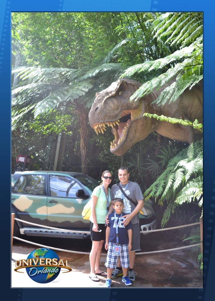picture with trex at universal studios orlando